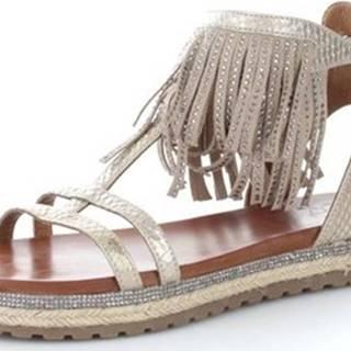 Femme Plus Sandály SF03-2 Žlutá