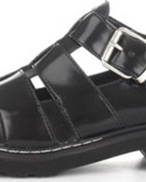 Černé sandály Cult