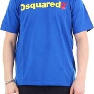 Dsquared Trička s krátkým rukávem S74GD0565S22427 Modrá