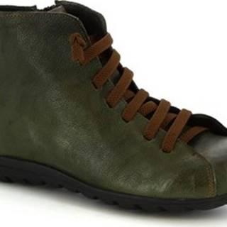 Leonardo Shoes Kotníkové boty 2177 STROPICCIATO VERDE Zelená