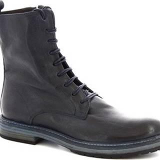 Leonardo Shoes Kotníkové boty 612 ROK BLUE C Modrá