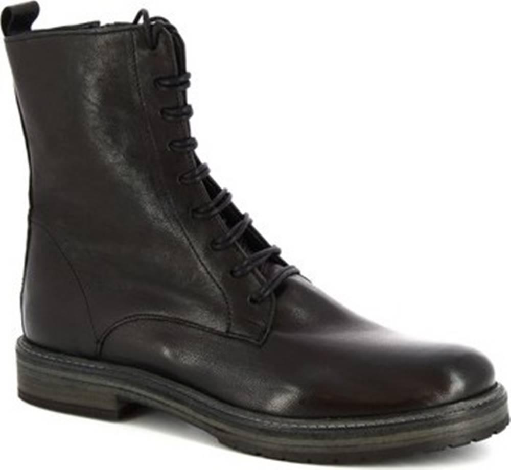 Leonardo Shoes Leonardo Shoes Kotníkové boty 612 ROK NERO Černá
