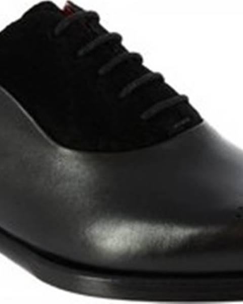 Černé polobotky Leonardo Shoes