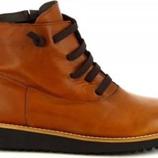 Leonardo Shoes Kotníkové boty 4532 IGRASSATO CUOIO Hnědá