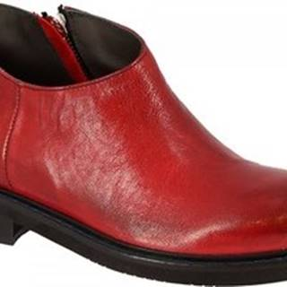 Leonardo Shoes Kotníkové boty 4701 ROK ROSSO Červená