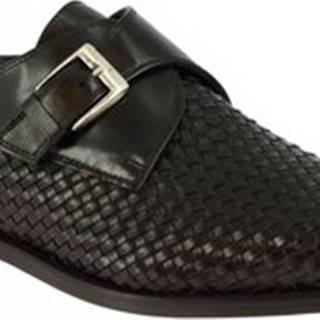 Leonardo Shoes Mokasíny 06541FORMA40 METISSE NERO Černá