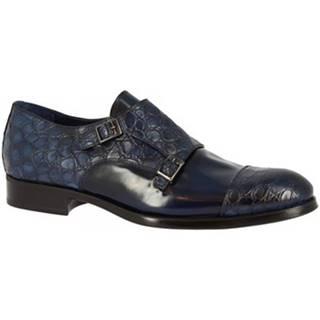 Leonardo Shoes Mokasíny 520-4939 COCCO BLU Modrá