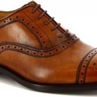 Leonardo Shoes Šněrovací polobotky 07010 NAIROBI CUOIO Hnědá