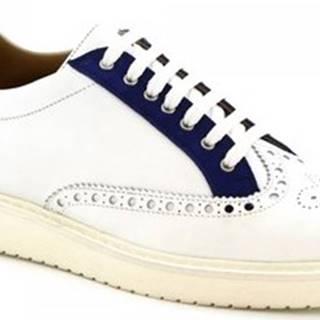 Leonardo Shoes Šněrovací polobotky 1119_1 NAPPA BIANCO Bílá