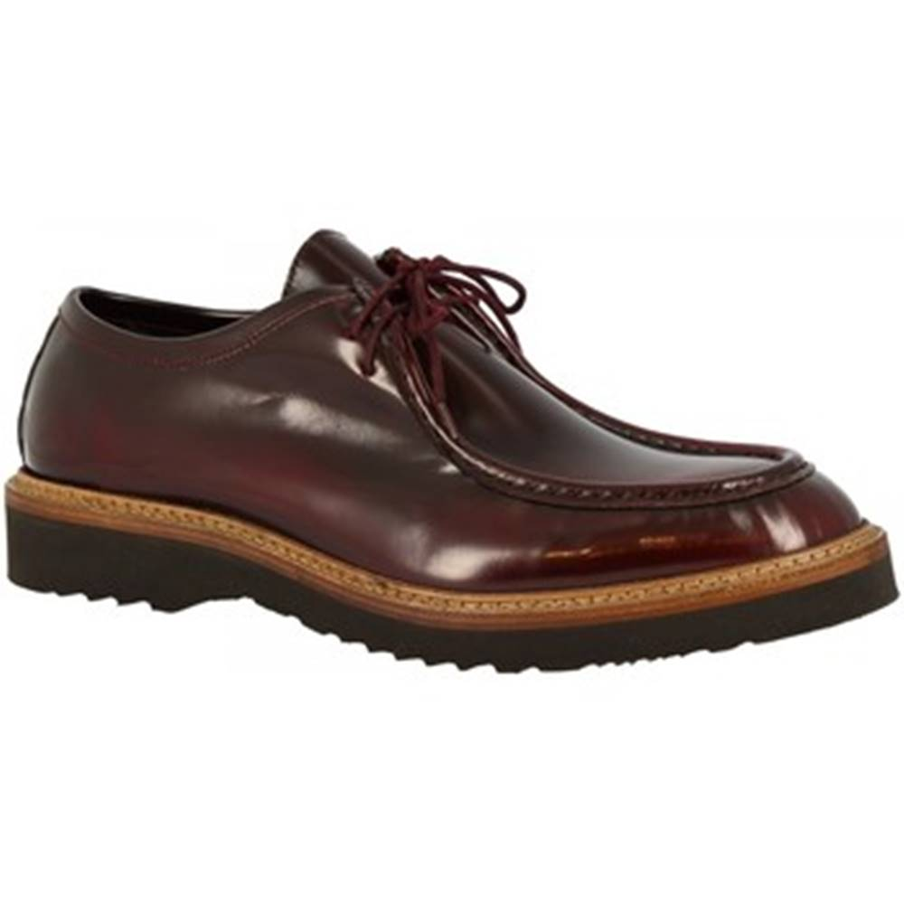 Leonardo Shoes Leonardo Shoes Mokasíny M631-80 DALLAS BORREAUX Červená