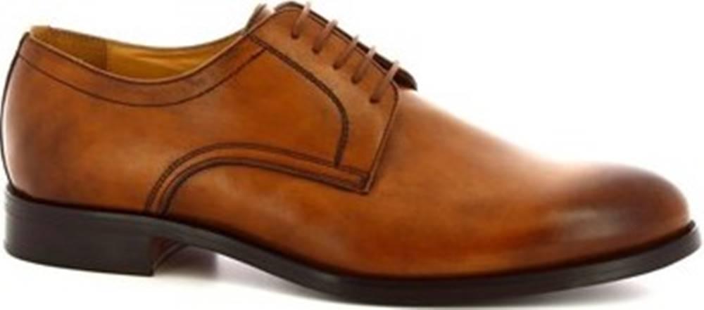 Leonardo Shoes Leonardo Shoes Šněrovací polobotky 07692 NAIROBI CUOIO Hnědá