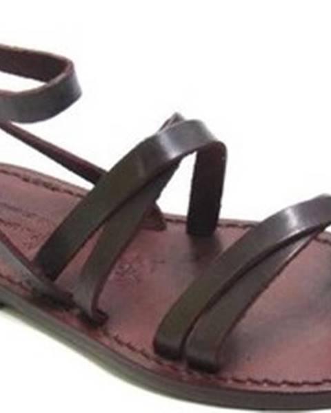 Hnědé sandály Gianluca - L'artigiano Del Cuoio