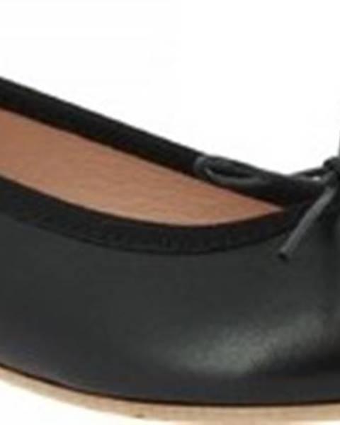 Černé baleríny Leonardo Shoes