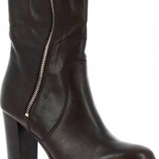 Leonardo Shoes Kotníkové kozačky E186/1 TRONCHETTO FEELING T. MORO ruznobarevne