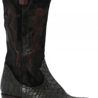 Leonardo Shoes Kozačky 2019 ANACONDA NERO Černá