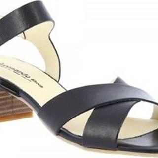 Leonardo Shoes Sandály C 40 Černá