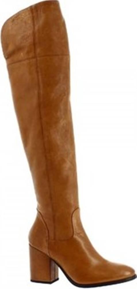 Leonardo Shoes Leonardo Shoes Kozačky 5805/1 STIVALE RIOS CUOIO Hnědá