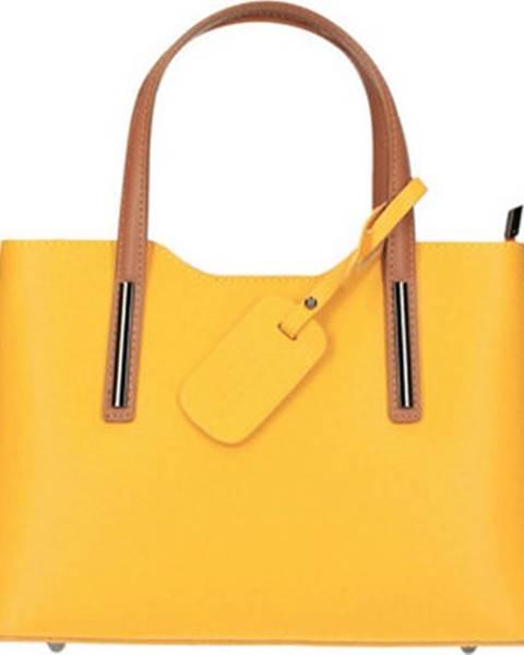 Žlutá kabelka Borse In Pelle