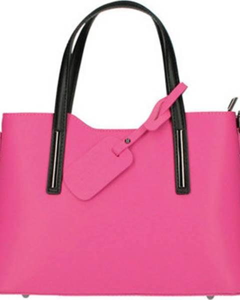 Růžová kabelka Borse In Pelle