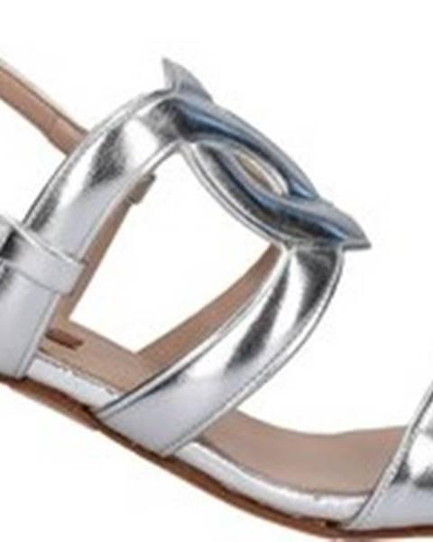 Stříbrné sandály Albano