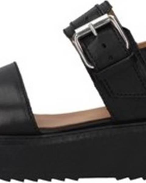 Černé sandály Janet Sport