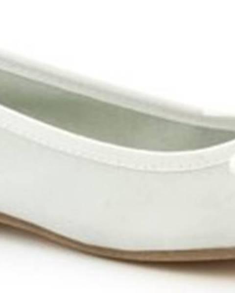 Bílé baleríny Leonardo Shoes