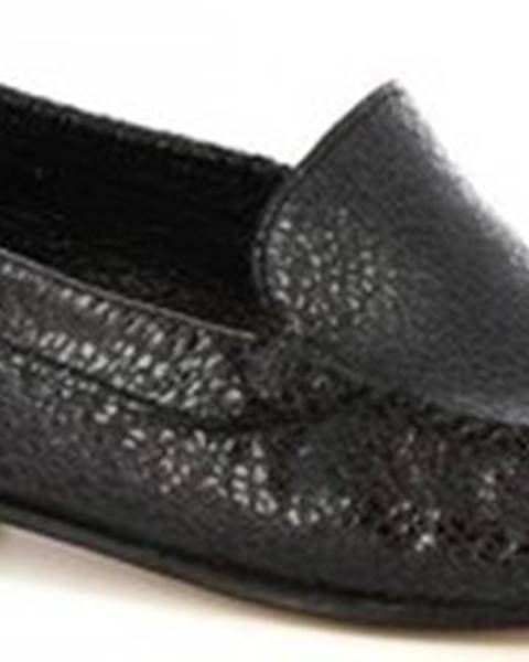 Černé sandály Leonardo Shoes
