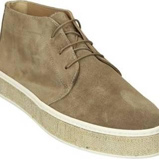 Leonardo Shoes Kotníkové kozačky 302/2 SCAM CORDA PAILLETTES Béžová