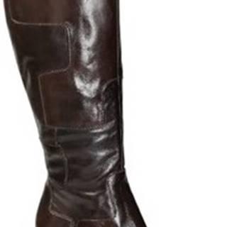 Leonardo Shoes Kozačky 270312 CACAO Hnědá