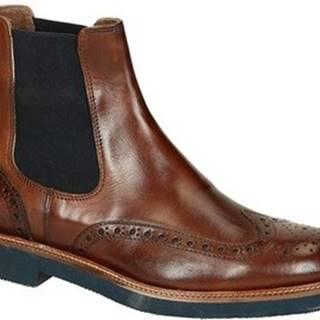 Leonardo Shoes Kotníkové boty U385 PE VITELLO MARR 8259 C024 Hnědá