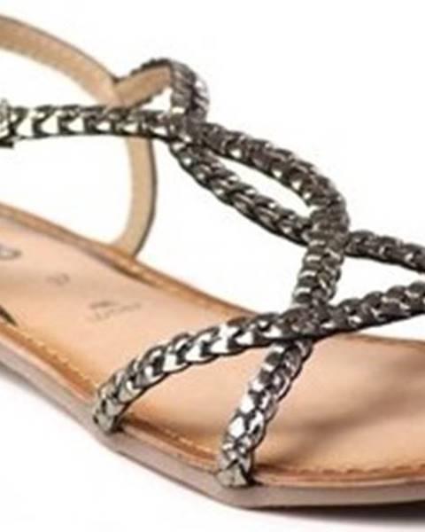 Stříbrné sandály Gioseppo