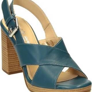 Leonardo Shoes Sandály 1501/1 GUANTINO JEANS Modrá