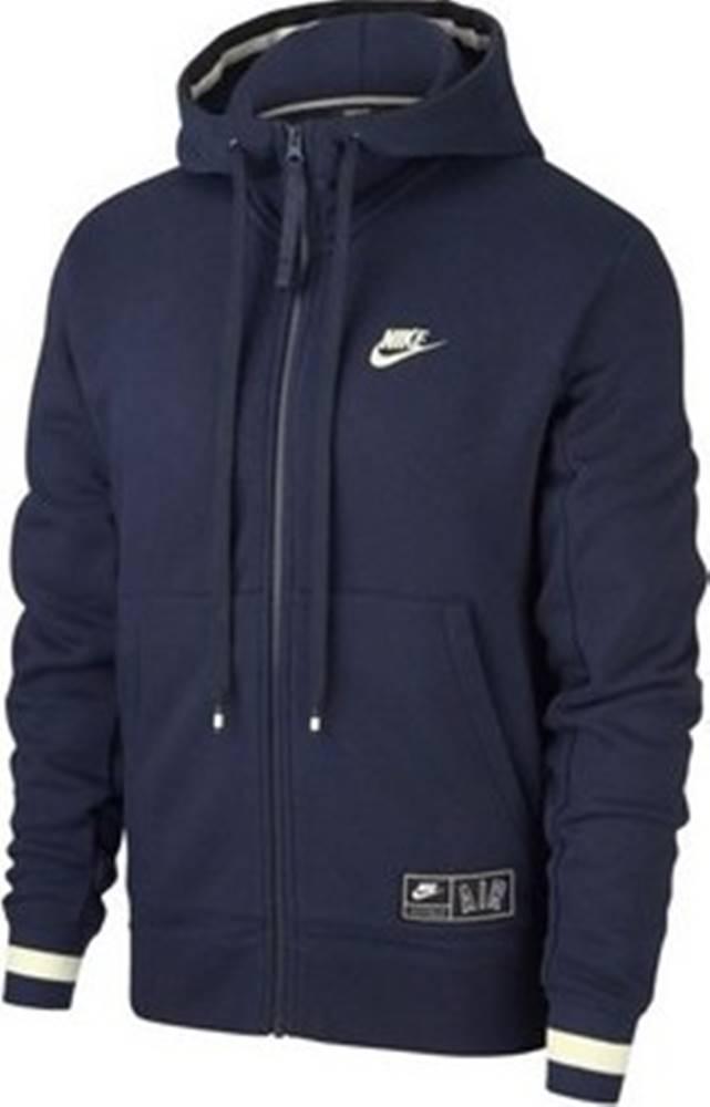 nike Nike Mikiny Air Hoodie FZ Černá