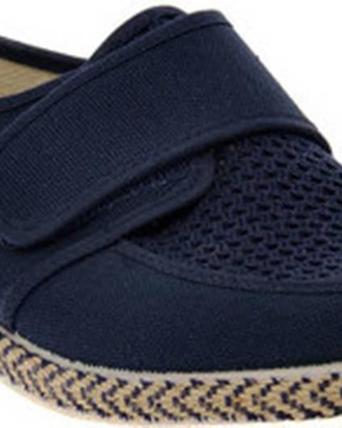 Modré domácí boty Emanuela