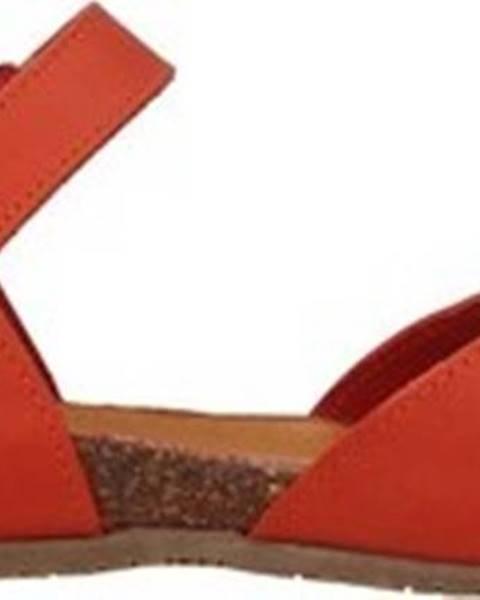 Oranžové sandály Bionatura