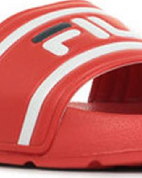 Červené pantofle fila