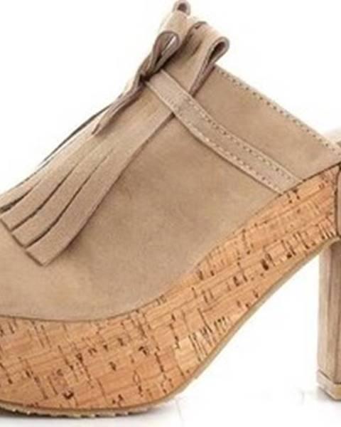 Hnědé sandály Sara Lopez