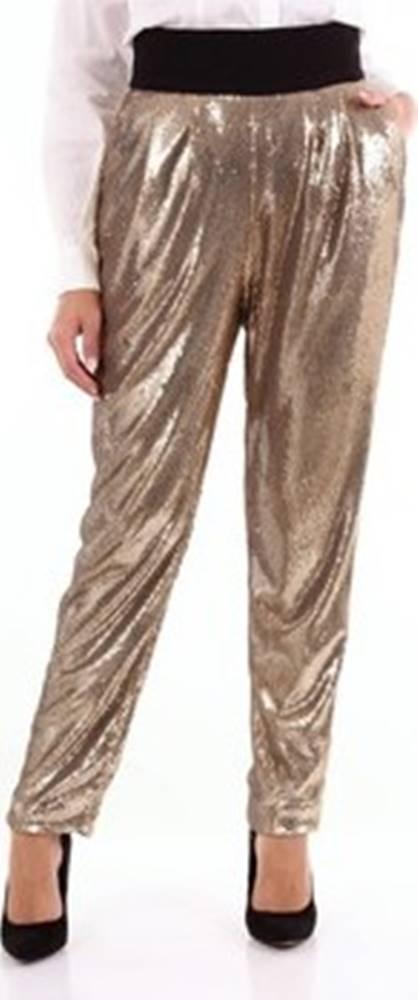 Parosh Parosh Ležérní kalhoty PILLED230408 Zlatá