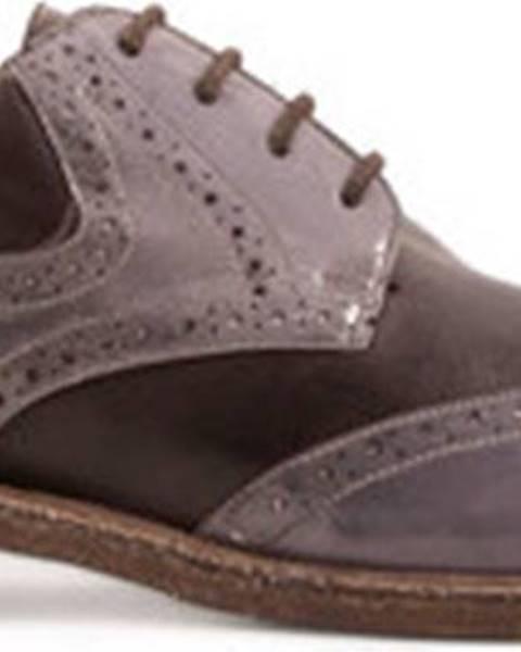 Béžové polobotky Leonardo Shoes