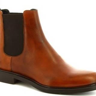 Leonardo Shoes Kotníkové boty 1039_4 PE VITELLO CUOIO Hnědá