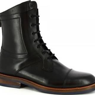 Leonardo Shoes Kotníkové boty 406-16 VITELLO NERO Černá
