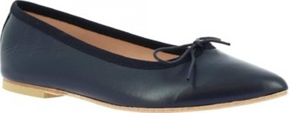 Leonardo Shoes Leonardo Shoes Baleríny 1178 NAPPA BLU Modrá