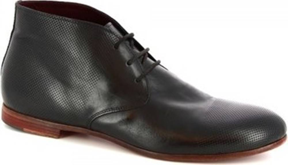 Leonardo Shoes Leonardo Shoes Kotníkové boty 34412/2 BUFALO MICR 2 NERO Černá