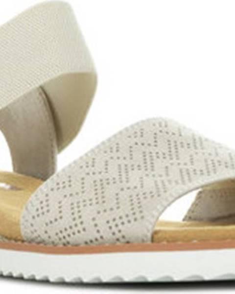 Béžové sandály Skechers