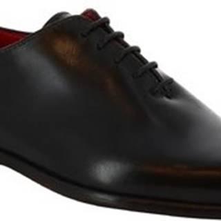 Leonardo Shoes Šněrovací polobotky 990 V.NERO Černá