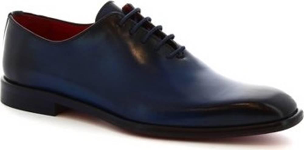 Leonardo Shoes Leonardo Shoes Šněrovací polobotky 990 V.BLU Modrá