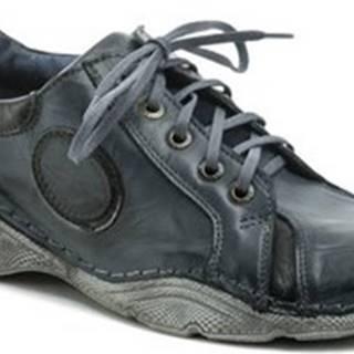 Kristofer Vycházková obuv 304B modré pánské polobotky Modrá
