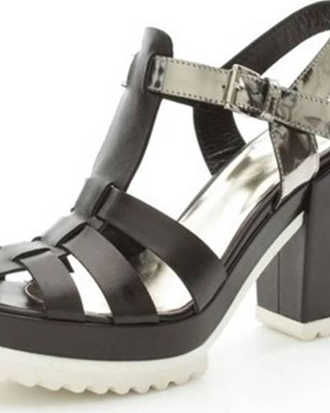 Černé sandály Simpaty
