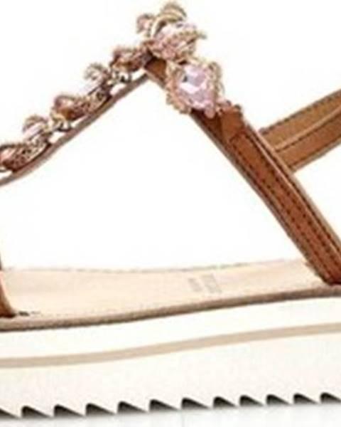 Hnědé sandály Zoe