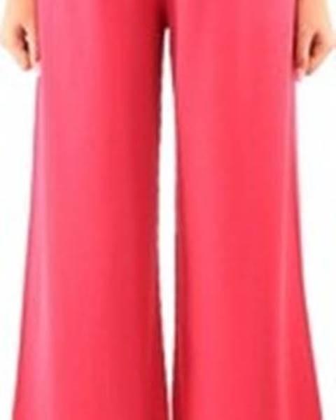 Růžové kalhoty Lvn Liviana Conti